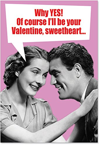 2183 c-m On My Face Humorous Valentine's Day Paper Card with Envelope