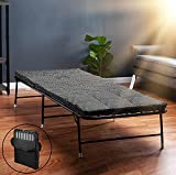 LiteBed Folding Bed with Memory Foam Mattress - Portable Fold Up Bed with Carrying Bag - Luxurious Foldable Bed with Frame - Foldaway Guest Bed - Hideaway Cot for Adults & Kids - No Assembly Required