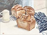 Posterlounge Leinwandbild 70 x 50 cm: Selbstgemachtes Brot von Mary Want - fertiges Wandbild, Bild...