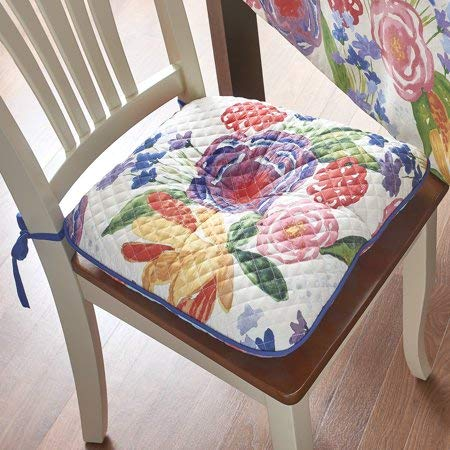 The Pioneer Woman Celia Reversible Quilted Chair pad (4...
