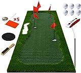 FEE-ZC Tragbare Dicker Golf-Puting-Matte für Golf-Trainingsmatte – professionelles grünes langes, herausforderndes Putter für drinnen und draußen – 3,48 x 1 m, B