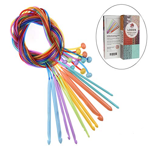 Tunisian Crochet Hooks Set With Plastic Cable Set
