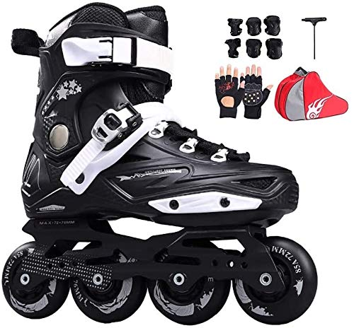 Inline Skating Outdoor Skates Inline Skates Adult Outdoor Professional Roller Inline Skates Comfortable Freestyle Racing Skates for Women and Youth,尺寸:43 EU/10 US/9 UK/26.5cm JP,颜色:White