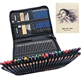 96pcs Painting, Drawing & Art Supplies Set - Colored Drawing Pencils Set - Sketching, Graphite Pencils with Portable Case, Ideal Art Kit for Beginners & Professional Drawing Artists Teens & Adults