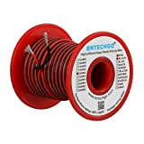 BNTECHGO 20 Gauge Silicone Wire Spool Red and Black Each 50ft 2 Separate Wires Flexible 20 AWG Stranded Copper Wire