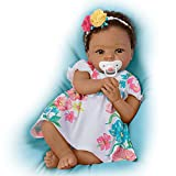 The Ashton-Drake Galleries Cheryl Hill Lifelike Weighted Silicone Baby Doll with Rooted Hair