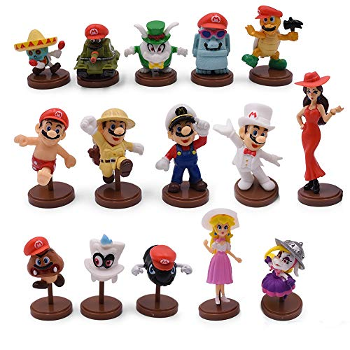 YUNDING Super Mario Peluches Hot Toys 15Pcs / Set 3-7cm Supe