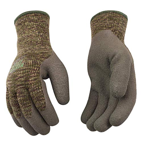 Kinco - Frost Breaker Heavy Thermal Work Gloves, Warm 7-Gauge Acryllic Knit Shell, Crinkle Latex Palm Grip, Fitted Knit Wrist, (Style No. 1788)