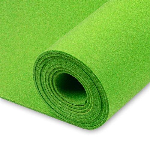 Premium in feltro Sold by Meter, verde erba, densità 0,30kg/CDM, 3mm di spessore