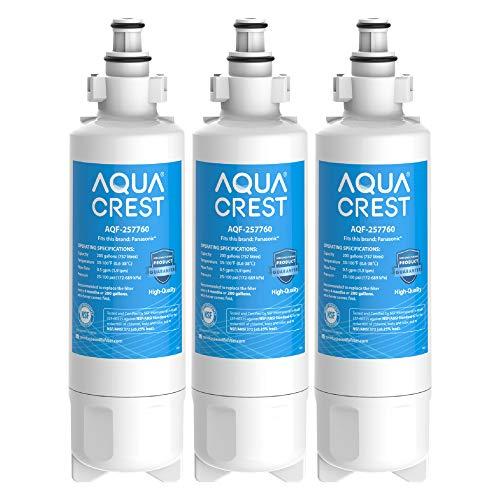 3 x AQUACREST 257760 Kühschrank Wasserfilter, Kompatibel mit Panasonic CNRAH-257760 125950 NR-B53V1 NR-B53V1-WB/X1D NR-BG53V2 NR-BG53VW2 NR-B53V2-XE NR-B54X1-WB/E EcoAqua EFF-6032B AH-PCN (3)