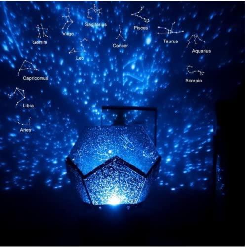 Luce notturna della scena astronomica, luce del proiettore stella, luce notturna della galassia, proiettore a led con USB, adatto per bambini, adulti, stanza, decorazione della festa in famiglia