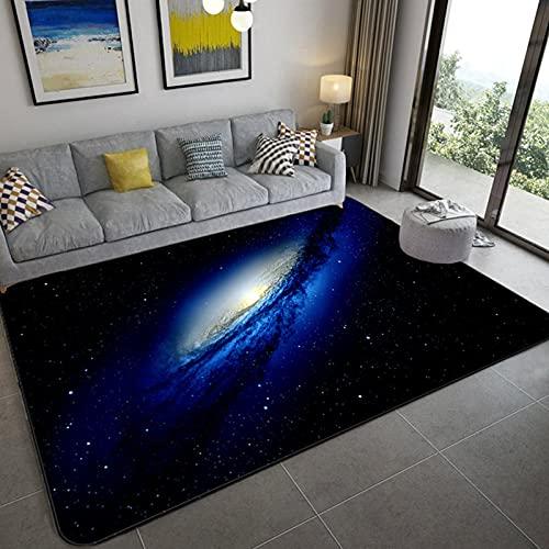 Stillshine. Alfombra Infantil 3D Cielo Estrellado Universo Estrella Galaxia Remolino Patrón Alfombra de Sala Dormitorio Decoración Niña Niño Adulto Antideslizante Alfombra (Color 4,80×120 cm)