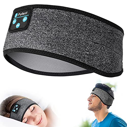 Fulext Sleep Headphones Bluetooth Headband,Sleeping Headphones Sports Headband Headphones, Long Time Play Sleeping Headsets with Built in Speakers Perfect for Workout,Running,Yoga