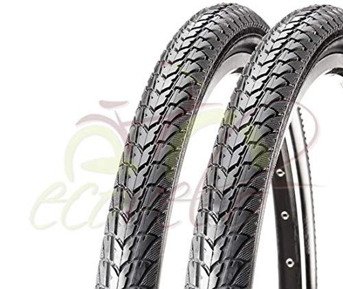 2 COPERTONI NERI C-1446 (47-507) 24 X 1.75 PER BICI BICICLETTA CITY BIKE ELETTRICA E-bike Approved 25 km/h