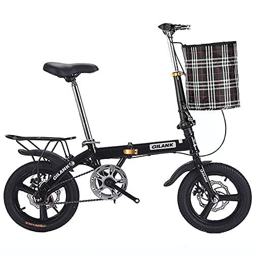 Folding Bicicleta Plegable, Bicicleta Plegable Bikes para Mujer Hombre Adultos, Acero de...