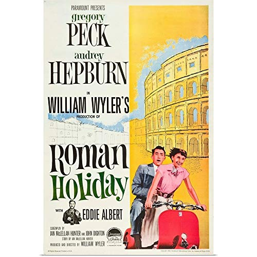 GREATBIGCANVAS Roman Holiday, Eddie Albert, Gregory Fine Art Poster Print, Home Decor Artwork, 24