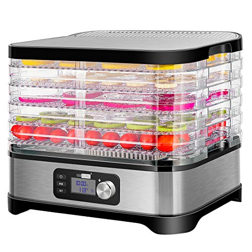 VIVOHOME Electric 400W 5 Trays Food Dehydrator Machine with...