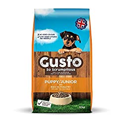 Gusto offers quality yet affordable dry puppy dog food with added minerals and vitamins 26 percent protein, 12 percent fat, Gusto puppy/junior makes sure those energy needs are met during this vital growth stage, without encouraging excess weight gai...