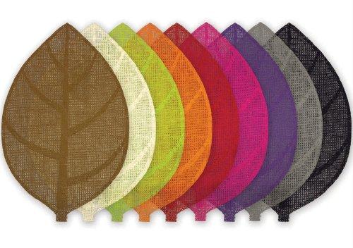 le jardin des cigales set de table 30x45cm fibre papier feuille choco
