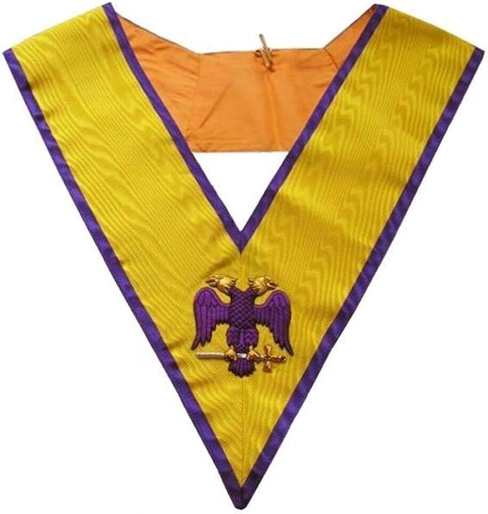 Masonic Memphis Misraim Hand Embroidered Collar - 95 Degree