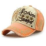Tioamy Berretto da Baseball Unisex retrò Regolabile Baseball Hat Leisure Cappuccio Elegante Tappo di Cotone Lettera Outdoor Hat per Gli Uomini e per Le Donne