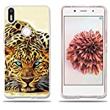 BQ Aquaris X5 Plus Hülle, FUBAODA [Leopard] Transparent Silikon TPU Fashion Kreatives Design 3D zeitgenössischen Chic Slim Fit Shockproof Flexible Stylish Silikon für BQ Aquaris X5 Plus