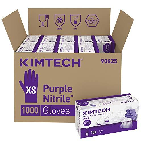 Kimtech Purple Nitrile beidseitig tragbare Handschuhe 90625 – Violett, XS, 10 x 100 (1.000 Handschuhe)