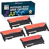 Clorisun Compatible Toner Cartridge Replacement for HP 116A W2060A W2061A W2062A W2063A, for HP Color Laser MFP 179fnw MFP 178nw 150a 150nw Printer, (Black Cyan Yellow Magenta, 4-Pack)