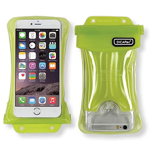 DiCAPac wasserdichte Handytasche passend für Nokia 8 Sirocco Dual SIM / 8 Sirocco Single SIM Schutz-Handyhülle/Handy-Case mit Tragegurt und Airbag - Grün - wasserdicht IPX8 10m