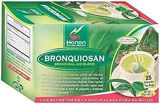 Bronquiosan Bronquial Aid Blend Natural Herbal Tea (25 Tea Bags ) Eucalyptus , Lungwort , Cat's Claw , Chuchuhuasi