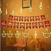 DesiDiya Warm White DiyaDiwali Light CurtainString Lights w