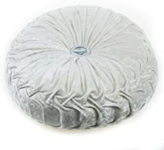 YOUTA Home Solid Round 13 Inch Pintuck Cushions Plush Handcrafted Pumpkin Decorative Throw Pillow for Sofa Chair Bed Car Decor Beige