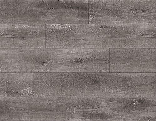 Kraus LVT Luxury Click Fit - Suelo de vinilo (100% impermeable, 2,2 m²), color gris