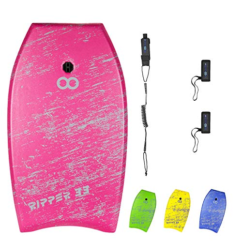 WOOWAVE Bodyboard 33-inch/37-inch/42-inch Super Lightweight Body Board with Premium Coiled Wrist...