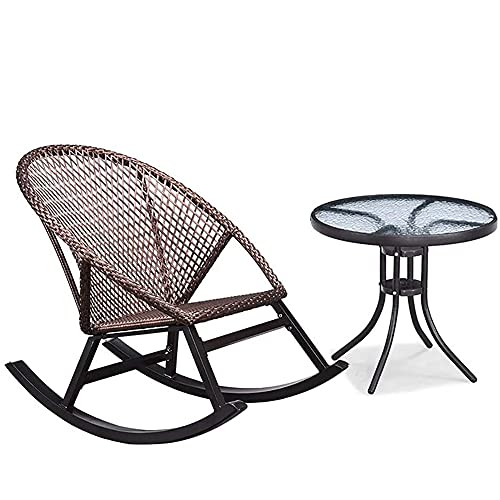 COUYY Sun Lounger Balkon Schaukelstuhl Haushalt Kleiner Rattan-Stuhl Senior Erwachsener NAP Gartenstuhl,B