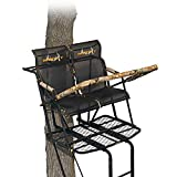 Muddy MLS2800 Rebel 2.5 Tree Stand 17' Ladder Stand, Lumbar Style 1.5 seat Design, Flex-Tek Seats flip up for Full...