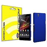 cogac Funda Protector para Sony Xperia L39H Z1 Azul Dura Lisa POLICARBONATO Carcasa
