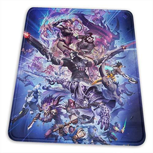 Game Storm Hero World Warcraft - Alfombrilla antideslizante de goma para ratón, Negro , 8.3 x 10.3 in