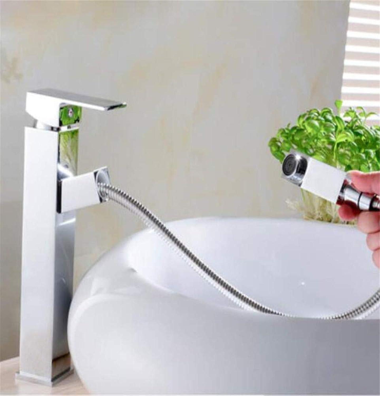360° redating Faucet Retro Faucet Bathroom Sink Faucet Pull Out Swivel Spout Basin Mixer Tap