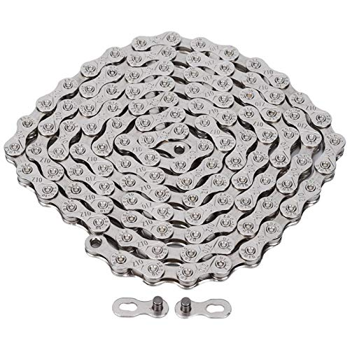 Germerse Cocosity Mountain Bike Chain, Metal Full Electroplating Mountain Bike Chain Anti-Rust Road Bicycle Variable Speed Chains Cycling Accessory