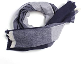 MUZIWENJU Scarf, Ladies Winter Long Thick Pure Wool Scarf/Shawl, Dual-use Warm Ladies Scarf (Color : Light Blue)