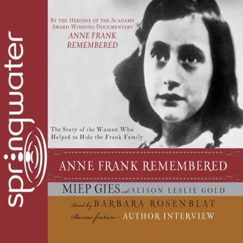 Anne Frank Remembered audiobook cover art