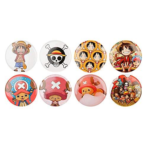 redCherry Anime Broschen Button Badges Pins Set für Kleidung Rucksack Federmäppchen(1.One Piece)