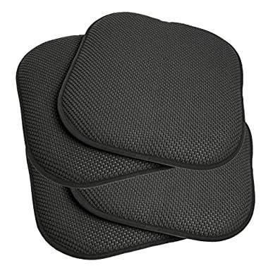 4 Pack Memory Foam Honeycomb Nonslip Back 16  x16  Chair/Seat Cushion Pad