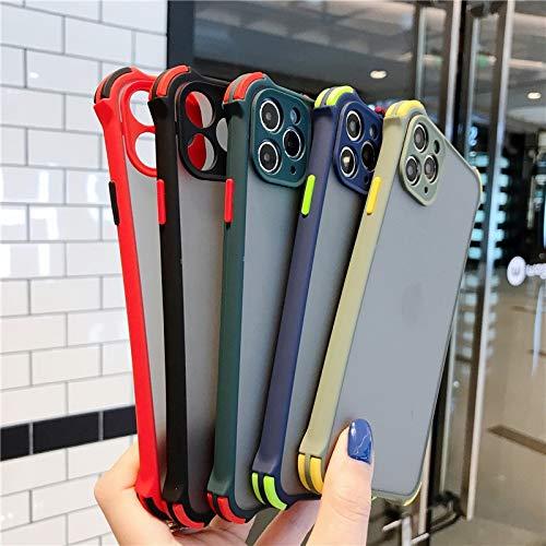 YABAISHI Cuatro Esquinas golpean el Color de la Lente Anti-Gota de Color iPhone12mini Apple 11pro MAX Mobile Phone Case 8 / 7plus All-Inclusive XR (Color : Royal Blue, Size : iPhone 11pro MAX)