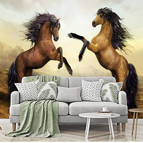 BVCK 3D Decorations Wall Wallpaper Stickers Murals3D Horsemodern Art Room Background Art Kids Kitchen_(W) 200x(H) 140cm