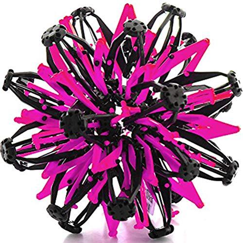 Baby gooien bal bloesem krimpbal kleuterschool magie telescoop steeds groter en kleiner bal speelgoed voor kinderen Ohne LED roze
