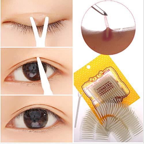 Amorar 660 Stück/330 Paar Augenlid-Aufkleber Selbstklebende Atmungsaktives Natürlich Unsichtbares Doppeltes Augenlidband Sofortige Augen-Aufzug-Streifen mit Y-Gabel
