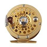 Futaba Metal Fly Fishing Wheel Reel - Gold - Diameter 60mm - 600A