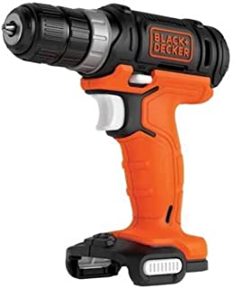 Black+Decker BDCDD12USB Cordless Drill 12 V with LED Work Light for Drilling and Screwing Includes 1 Double Bit, Battery a...